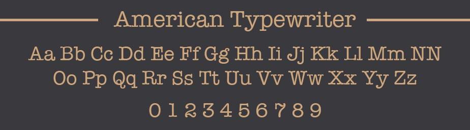 American Typewriter Web Safe Font