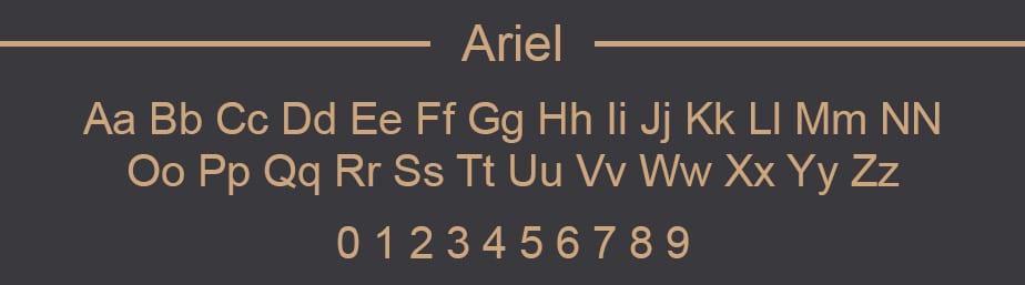 Arial Web Safe Font