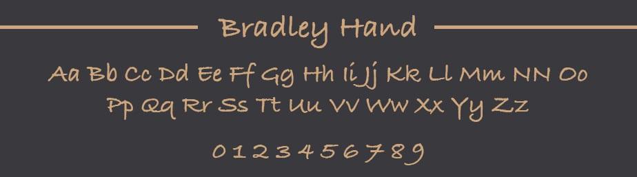 Bradley Hand Web safe font