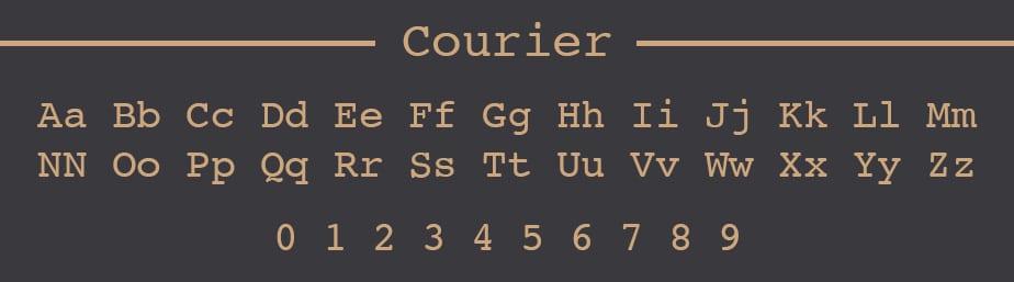 Courier Web Safe Font