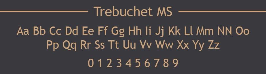 Trebuchet MS Web Safe Font
