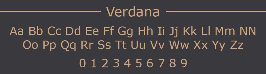 Verdana Web Safe Font
