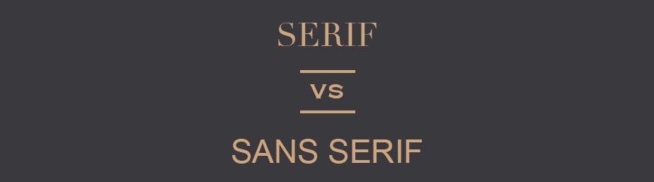Serif vs Sans Serif Font