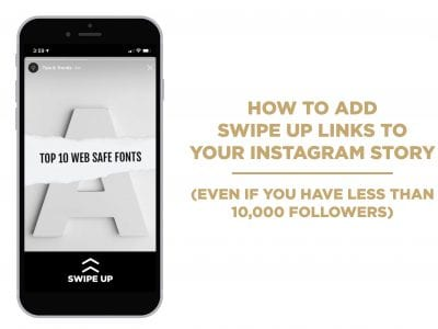 Swipe up link instagram story