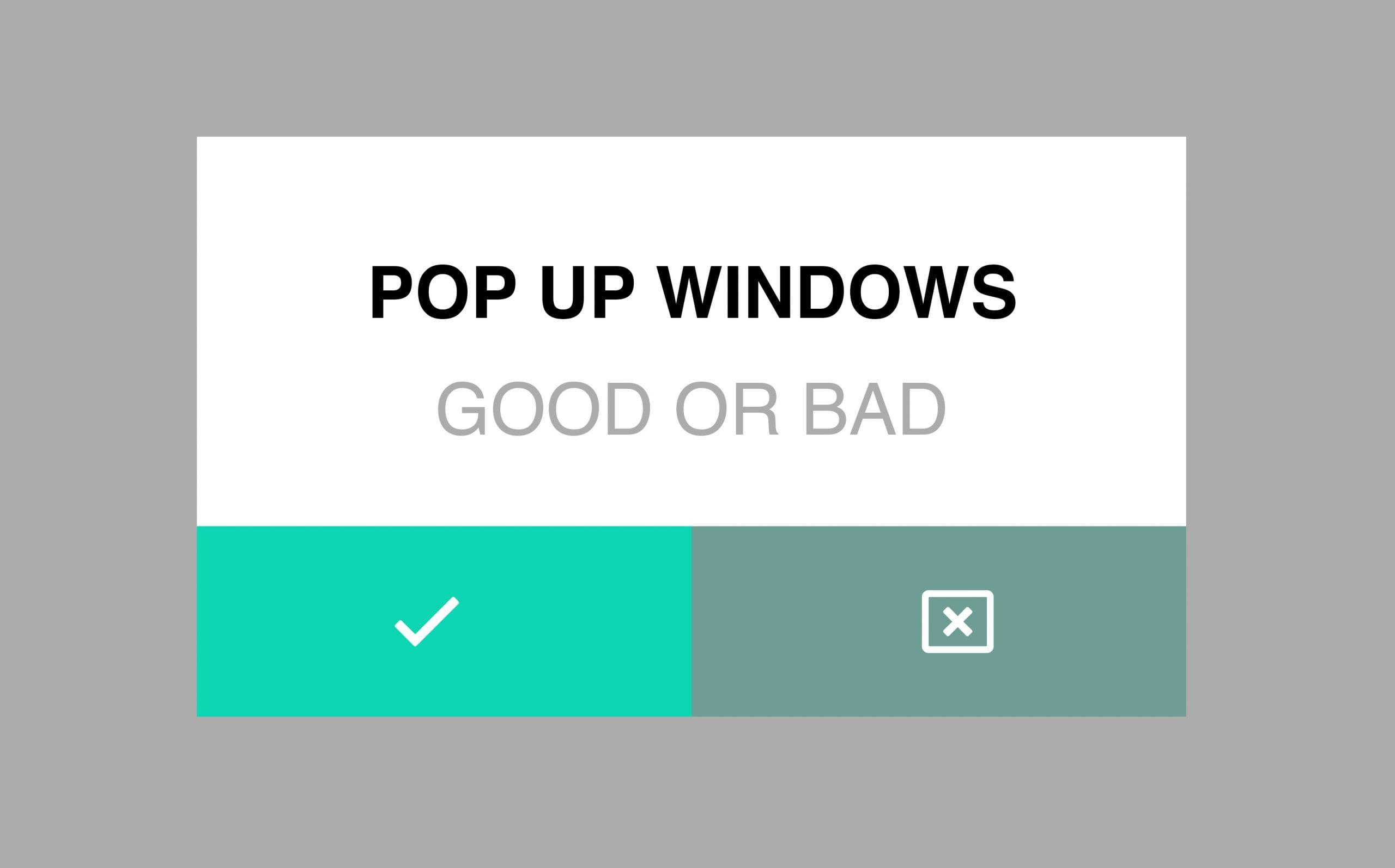 pop-up windows good or bad West palm beach