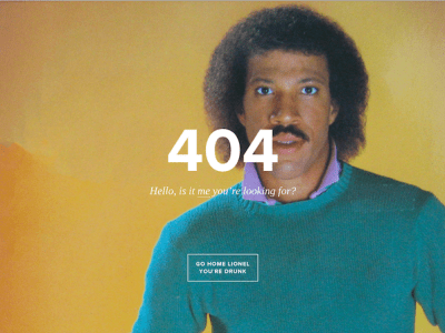 funny 404 pages