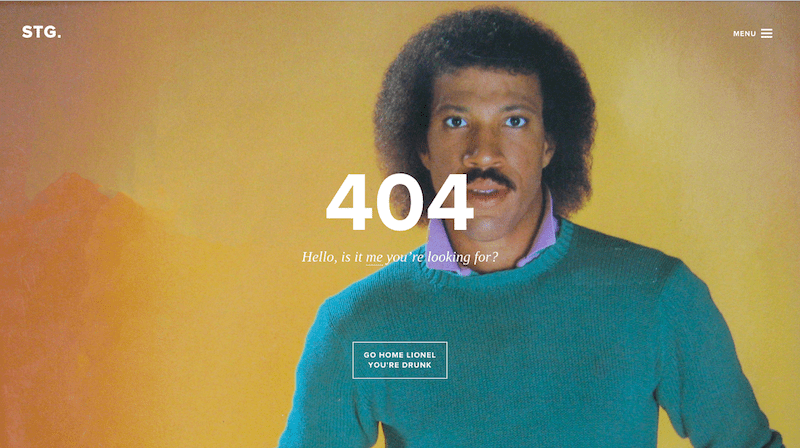 404 page funny