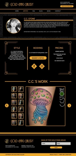 Tattoo Website Design - Boynton Beach Florida
